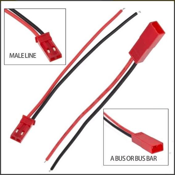 5x Par Plug Conector Jst P/ Bateria Lipo - Frete R$ 10,00