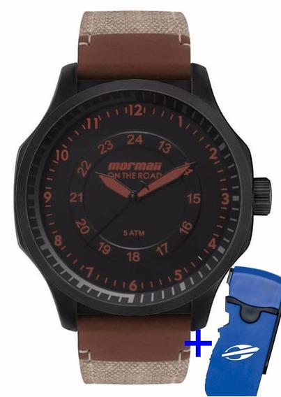 Relógio Mormaii Masculino Mo2035gy/k8p Promoção + Brinde