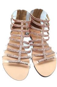 c53b07f5ab Sandalia Gladiadora Baixa Feminino Sapatos - Sapatos no Mercado ...