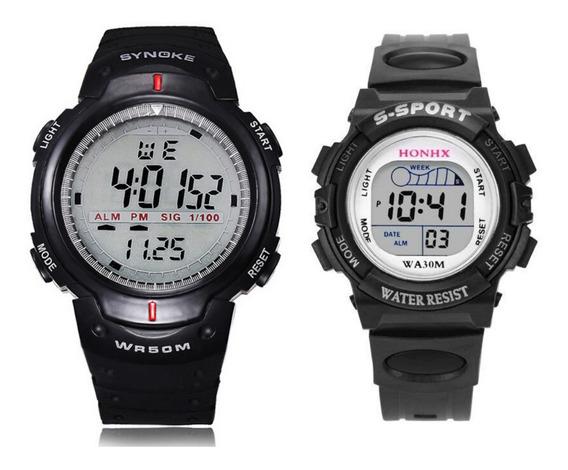 Relógio Digital Adulto + Relógio Digital Infantil Masculino