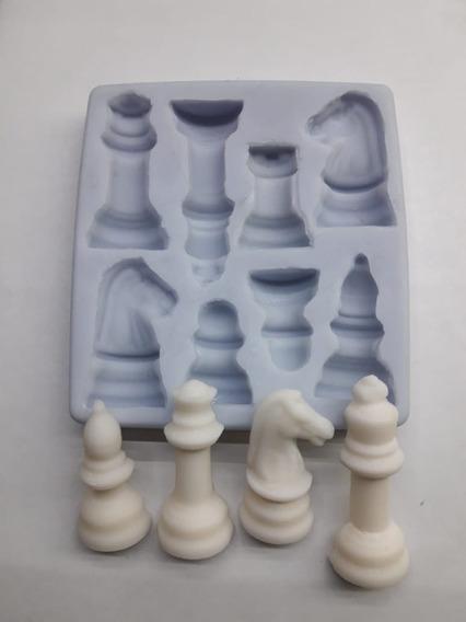 Molde Silicona Piezas De Ajedrez