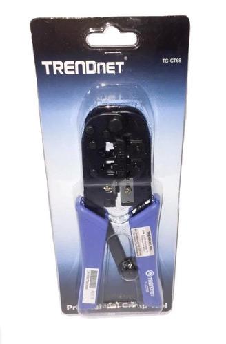 Crimping Profesional Trendnet Tc-ct68 Cortar Pelar Rj11 Rj45