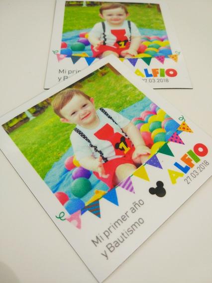Fotoiman Souvenir Polaroid Personalizado Cumpleaños Bautismo