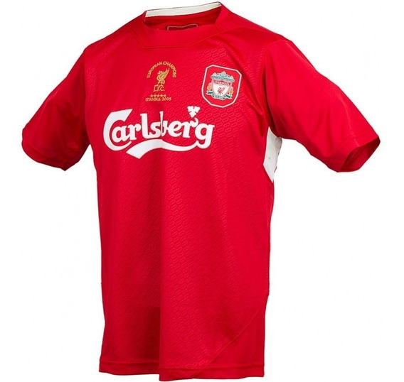 Camiseta Liverpool Retro 2005 Futbol Final Estambul Parche Gerrard Original Oferta