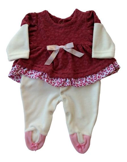 Macacão Longo Plush Bebê Menina (ref.: 1423)
