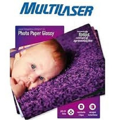 Papel Especial Photo Multilaser A6 200g/m2 20 Folhas - Pe010