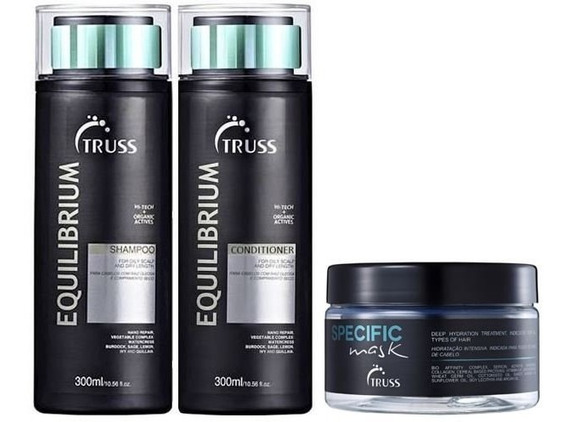 Kit Truss Shampoo E Condicionador Equilibrium+ Specific Mask