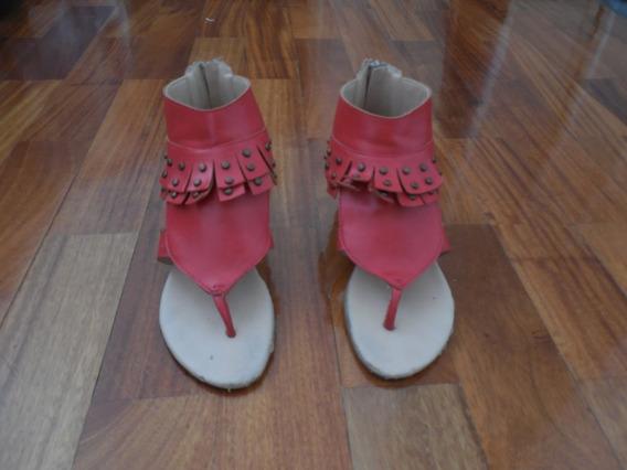 Sandalias Color Rojo
