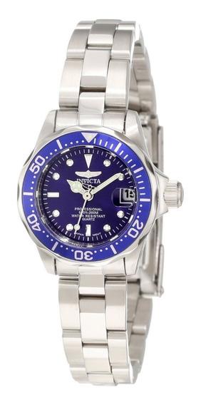 Reloj Invicta 9177 Colleccion Pro Diver Para Dama-tono Plata