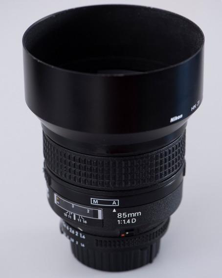 Lente Nikon 85mm 1.4d