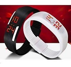 Kit Dois Relógios Pulseira De Led Um Preto E Um Branco