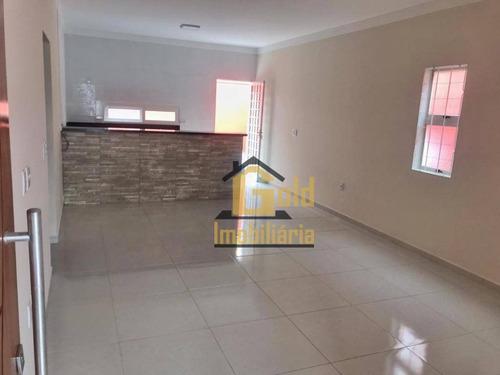 Casa Com 3 Dormitórios À Venda, 105 M² Por R$ 382.000 - Villas Mabel - Ribeirão Preto/sp - Ca1034