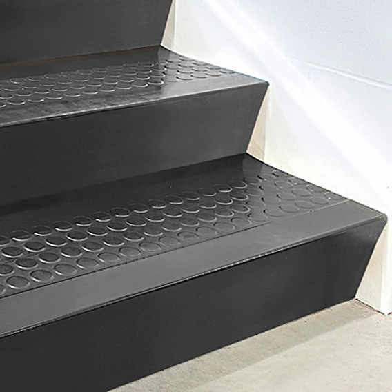 15 Contrapasos De Caucho Negro Para Escalon De 91 Cm X 17 Cm