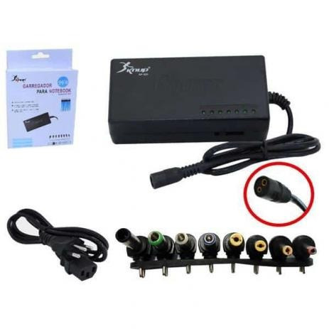 Carregador Universal Para Notebook Kp-525a+ 96 Watts Knup