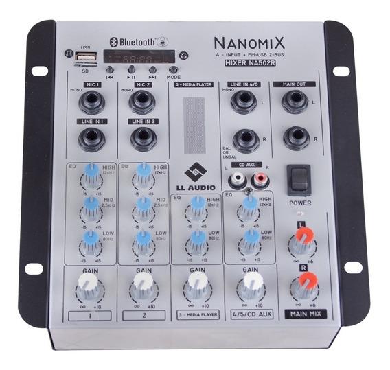 Mesa De Som Mixer Ll Audio Na502r Bt 5 Canais Usb Bluetooth