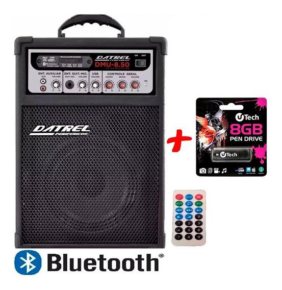 Caixa De Som Datrel Dmu 8.50 Bluetooth Fm Usb + Pendrive 8gb