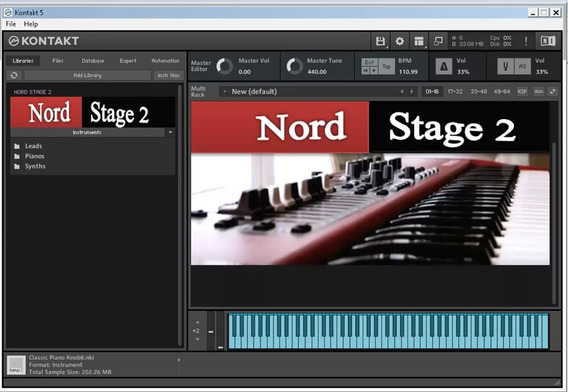 Nord Stage 2 Library Mais Kontakt 6.0.3