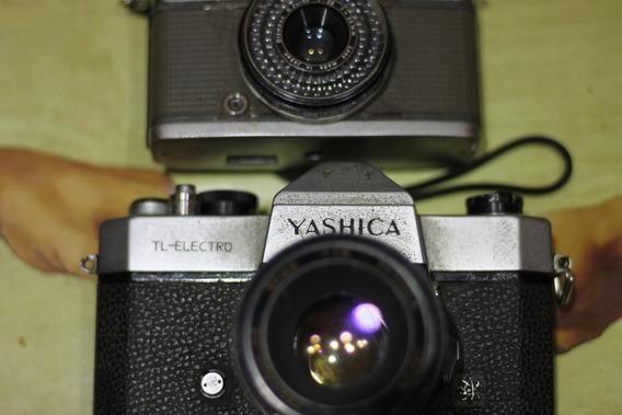 Camera Analógica [de Filme] Yashica Tl Eletro + Lente 50mm