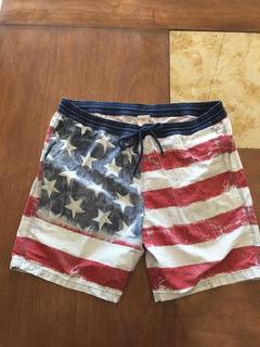 Short Bandera United States, Estados Unidos,vintage, Mossino