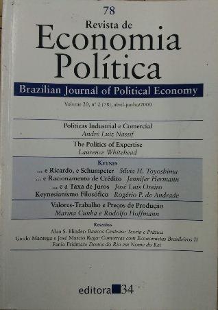 Revista De Economia Política Vol. 20 Nº2 André Luiz Nassif/