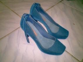 Salto Melissa Azul Original Usado Nº35