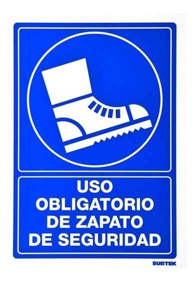 Señal Zapatos De Seguridad Surtek Ses10 25x36 29915156