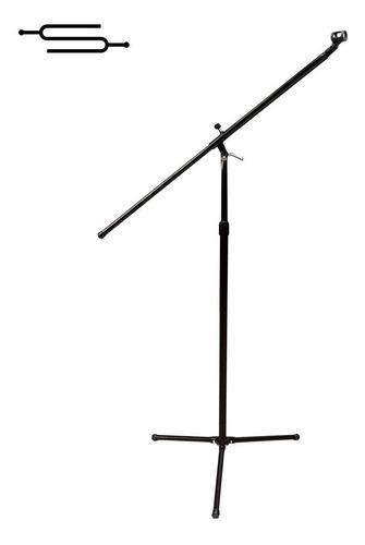 Pie Microfono Reforzado Con Pipeta Jirafa Metalico - Envio