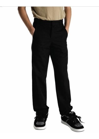 Pantalon Recto Para Niño Color Negro Marca Dickies A Precio Único Y Especial De Remate Única Pieza Y Talla