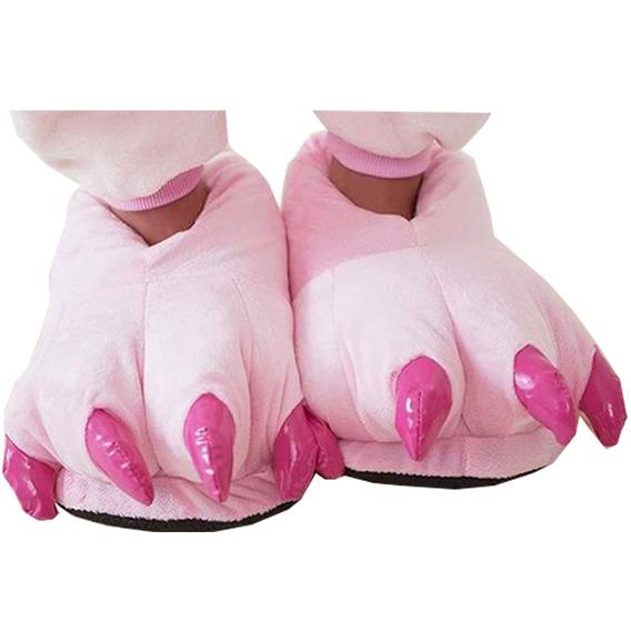 Pantufa Stitch Garras Rosa Adulto Confortável Pronta Entrega
