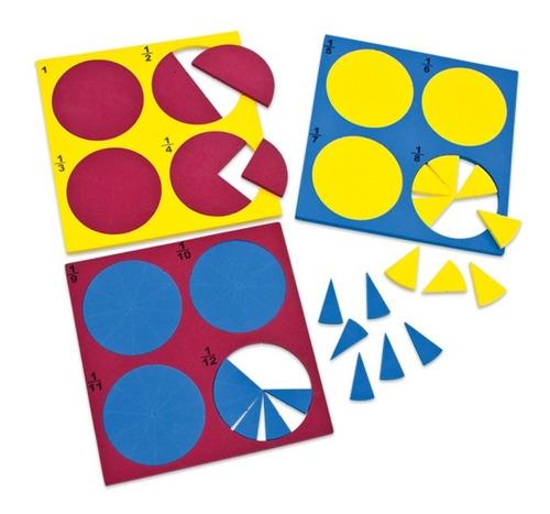 Imagem 1 de 5 de Brinquedo Pedagógico Educativo Círculos Fracionais