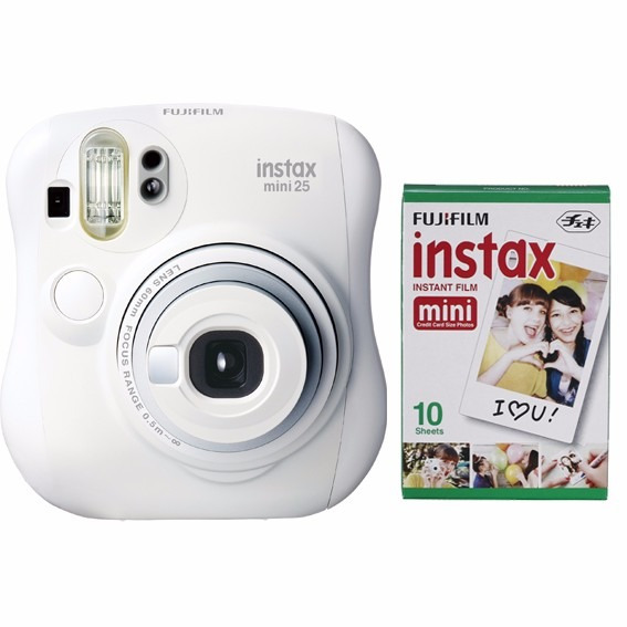 Fujifilm Instax Mini 25 Blanca Tipo Polaroid 10 Fotos