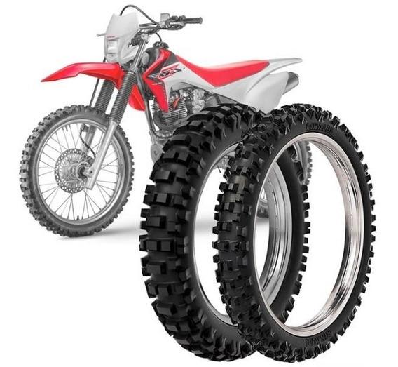 Kit 2 Pneu Moto Crf 230f Rinaldi 100/100-18 59m Rmx 35
