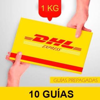 10 Guía Prepagada Día Siguiente Dhl 1kg +recolección Gratis