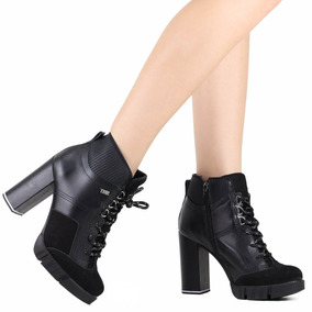 bb877b7ae Bota Coturno Com Salto Tanara Feminino - Sapatos no Mercado Livre Brasil