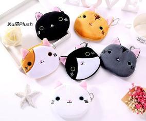 Bolsa Cartera Para Niñas Cara De Gato Cat Felpa Kawaii Cute