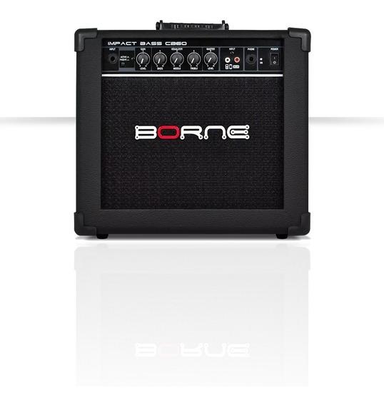 Amplificador Cubo Borne Impact Bass Cb60 20w Contra - Baixo