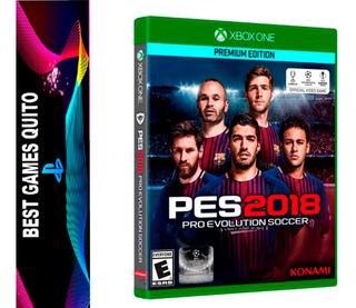 Pes 18 Juego Xbox One Fisico Sellado Mas Titulos Disponible