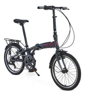 Bicicleta Aro 20 Dobrável 6 Marchas Sampa Pro Durban Azul
