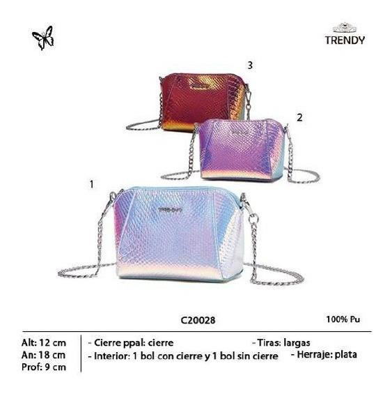 Cartera Trendy Metalizada 20028