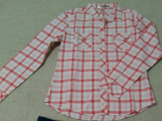 Camisa A Cuadros Roja Y Blanca.