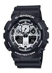 Relógio Casio G Shock Ga 100 Bw 1a Original Envio Imediato