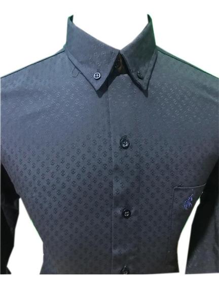 Camisa Sport M/l Estampada Polo Club!