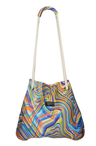Bolsa Saco Neoprene Cordas Abstract Colors
