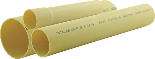 Tubo Pvc Agua Servida Sanitaria 4 Pulgadas 110mm 3m Tubrica