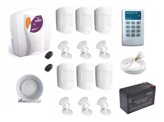 Kit Central De Alarme Genno Ultra Slim + Discador Gsm Sulton