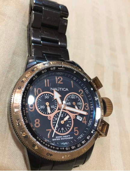Relógio Nautica N23501 Gold Rosè