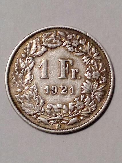 1 Franco 1921 Suiza Plata