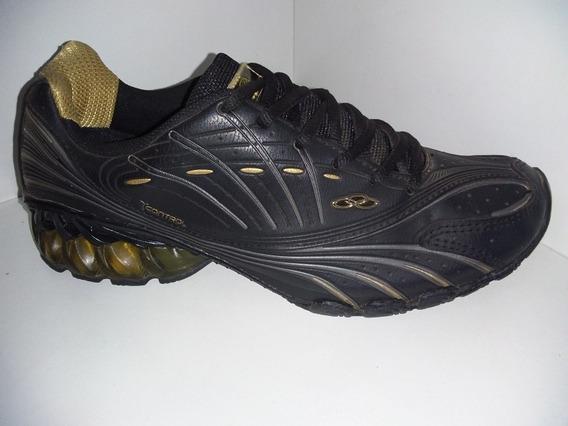 Tenis Olympikus Titan Preto Ouro Ref: 655