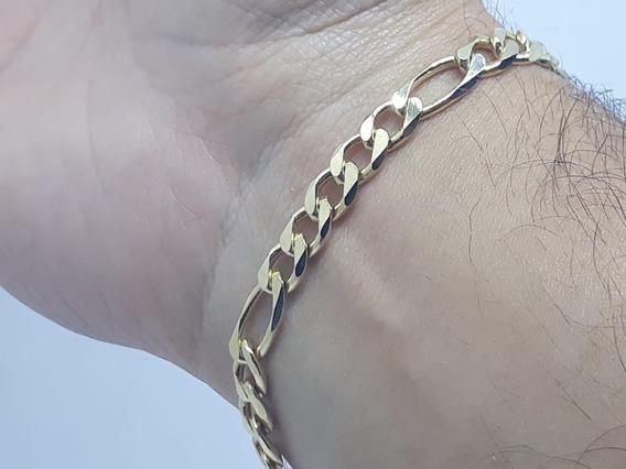 Pulseira 5x1 Masculina Semi Joia Banhada A Ouro 18k Incrível