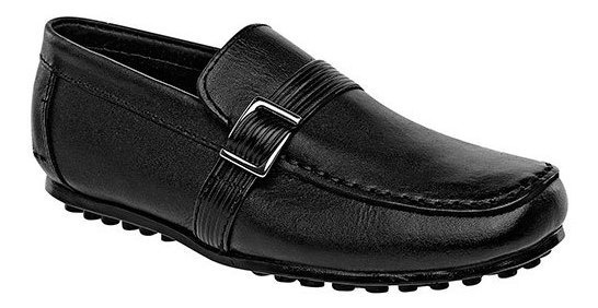 Zapato Escolar Niño Pk 58857 Piel Rooster Negro